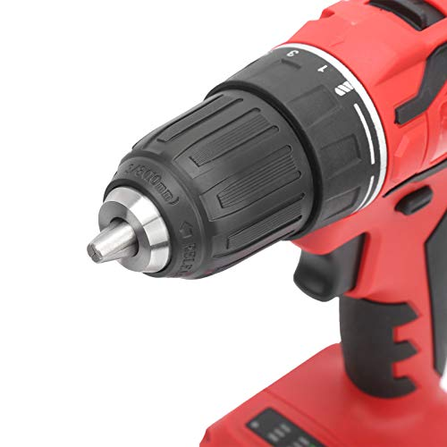 Destornillador recargable a batería de litio, destornillador de alta potencia Destornillador sin escobillas Taladro eléctrico rápido Portátil para taladrar Madera para taladrar tornillos(Transl)