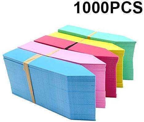 KINGLAKE 1000 Stück 10 x 2 cm Plastik Pflanzenstecker farbige Pflanzenetiketten Kunststoff Garten Kräutermarker Tags