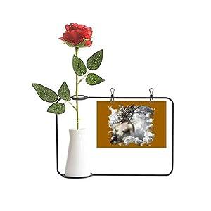 OFFbb-USA Primitive God Cosmos Regeneration Artificial Rose Flower Hanging Vases Decoration Bottle
