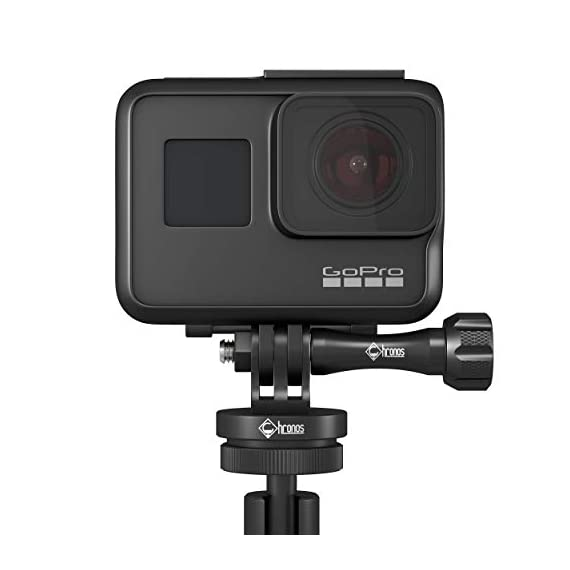 Chronos aluminum alloy cnc metal gopro tripod adapter / monopod mount with aluminum cnc thumbscrew for gopro max, gopro… 6 ✔️never break - tripod mount cnc cut from high quality aluminum with aluminum gopro dji osmo action thumbscrew ✔️versatility - standard 1/4-20 tripod stud for compatibility between accessories on any adventure or film session ✔️never lose end cap - built-in threaded end cap eliminating the need for a nut creating added strength and convenience