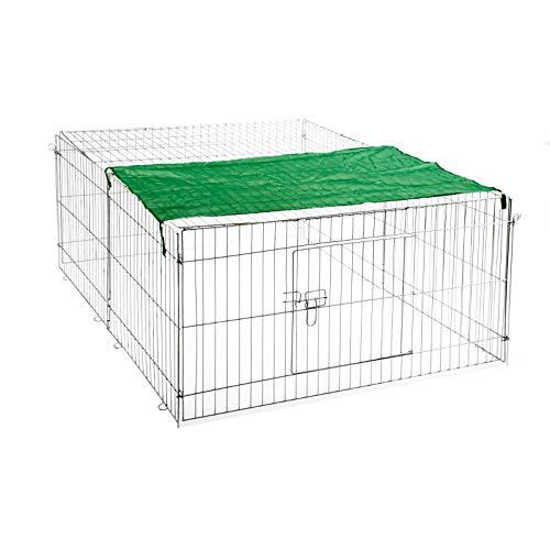 IHD Freilaufgehege Hasen Auslauf Freigehege Kaninchen Nager Freilauf (Größe: XL)