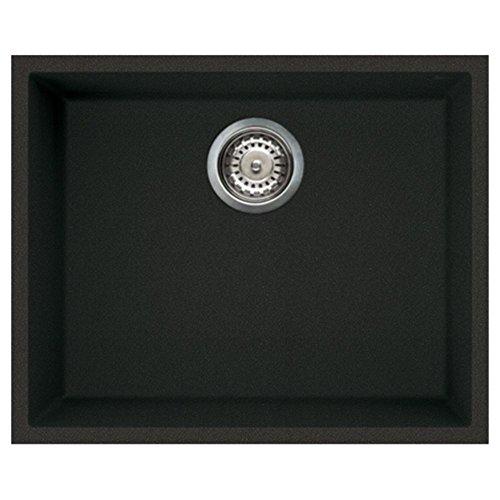 Elleci Quadra 105 1.0 Bowl Granite Black Undermount Kitchen Sink & Waste