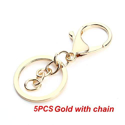 FBFG5-20pc/multi-keychain Keyring Keychain Bronze Rhodium 28mm Oblong Opening Keychain Keychain Jewelry