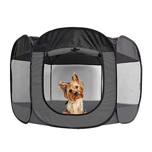 Furhaven Pet Playpen - Indoor-Outdoor Mesh Open-Air Playpen and Exercise Pen Tent House Playground...