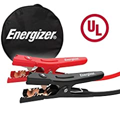 Energizer 16 Feet Jumper Cables- 16 FT, 6 Gauge booster battery jumper cables for jump starting a dead or weak battery. Ideal for SUVs, mid-size cars and small/compact cars - UL Listed Thick Vinyl Coating - Includes a strong spring and a comfortable ...