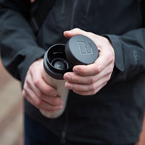Espro Travel Coffee Press, Stainless Steel, 10 oz (Matte Black)