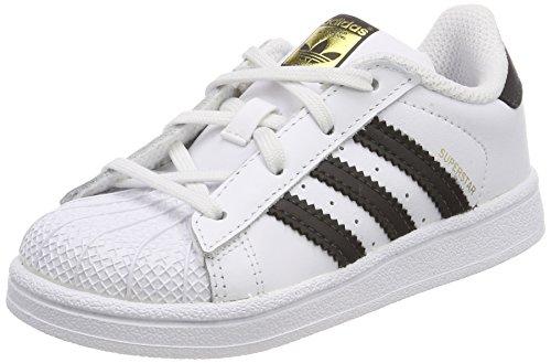 adidas Superstar I, Scarpe da Fitness Unisex-Bambini, Bianco (Footwear White/Core Black), 25 EU