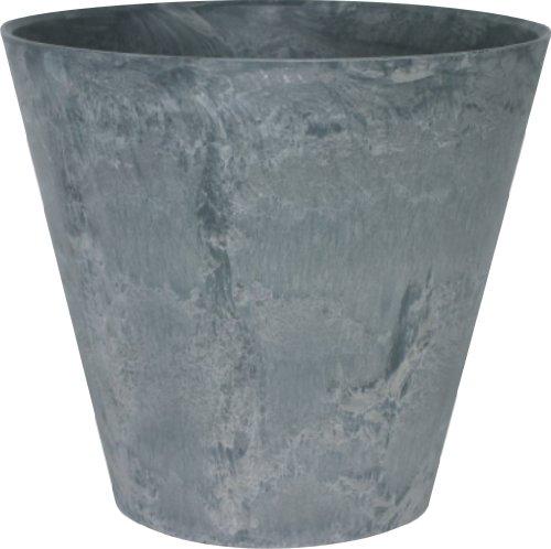 Artstone Pflanzgefäß Pflanzkübel Claire, frostbeständig und leichtgewichtig, Grau, 22x20cm