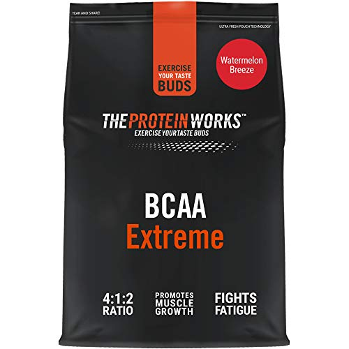 THE PROTEIN WORKS BCAA Extreme Powder   Branched Chain Amino Acid Supplement   Aids Recovery & Muscle Growth   Added Vitamins   Watermelon Breeze   500 g