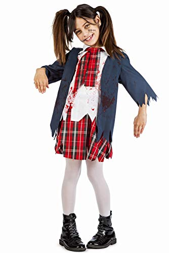 Disfraz Colegiala Zombie Talla 5-6 Años Tamaño Infantil
