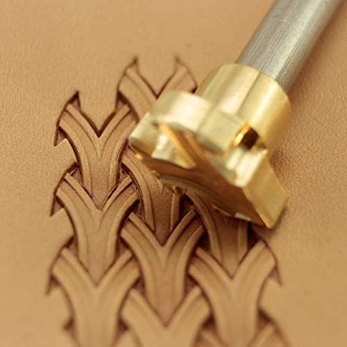 Leather Stamp Tool Basket Weave Stamping Working Carving Punches Tools Craft Saddle Brass #163B