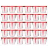 Artibetter 50 Pezzi 40 Ml Tazza per Campioni Tazza per Campioni in Plastica Contenitore per Urine Contenitore per Campioni Sterile per Uso Medico di Laboratorio (Colore Casuale)
