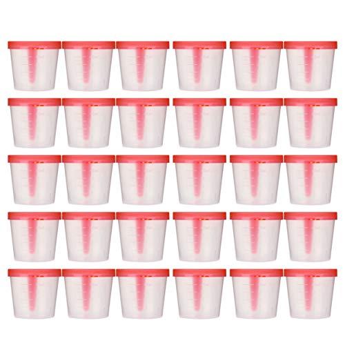 Artibetter 50 Pcs 40ml Specimen Cup Plastic Specimen Cup Urine Container Sterile Sampling Cup for Laboratory Medical Use (Random Color)