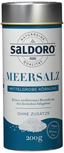 SALDORO Meersalz Mittelgrob, 6er Pack (6 x 200 g)
