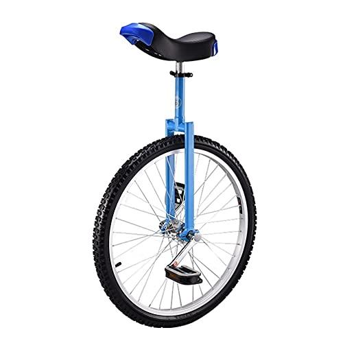 HWF Monociclo 24 Pulgadas Monociclo para Adultos, Altura Ajustable, Grueso Estructura de Acero al manganeso de Alta Resistencia, Grande Móvil Sillín, Pedal de Nailon de tamaño Completo