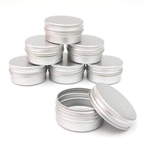 GAKIN Lote de 25 botes de aluminio de 15 ml para velas de maquillaje de gran capacidad vacíos