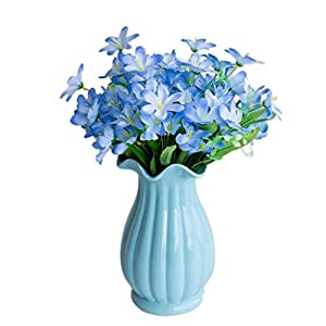 Silk Flower Arrangements Dserw Artificial Flower,6 Branches/1Pc Artificial Flower Narcissus Simulation Office Home Decoration - Blue
