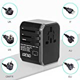 LOETAD Reiseadapter Travel Adapter Universal Reisestecker mit 4 USB Ports 1 Typ-C und 1 AC Buchse weltweit Internationale Reise Stecker für 150 Ländern (Verpackung MEHRWEG) - 2