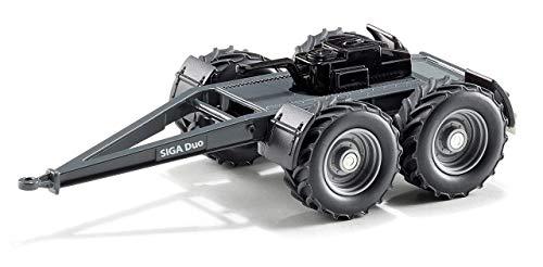 SIKU 2887, Dolly SIGA Duo, 1:32, Métal/plastique, Noir, Compatible avec les tracteurs SIKU