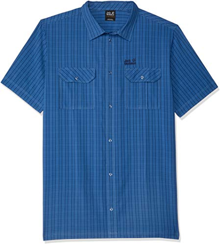 Jack Wolfskin Shirt Thompson Homme, Ocean Wave Checks, FR : M (Taille Fabricant : M)