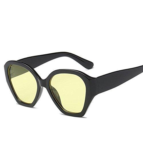 Luziang Europa y Las Gafas de Sol de Estados Unidos la Moda Tendencia océano Cine Gafas de Sol Retro Grande Gafa,Conducción Viajar Deporte al Aire Libre