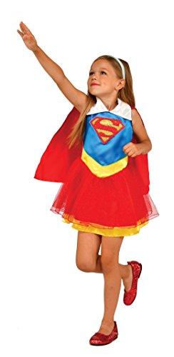 Generique - Disfraz Supergirl DC Super Hero Girls niña 5 a 6 años (105 a 116 cm)