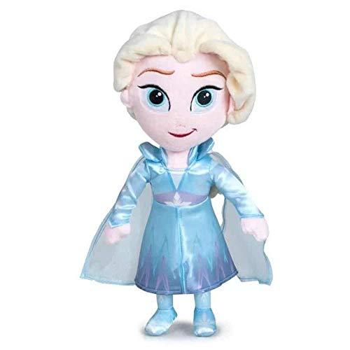 Disney Peluche Personajes Pelicula Frozen 2 Elsa Ana Olaf Simba 30 cm (Elsa)