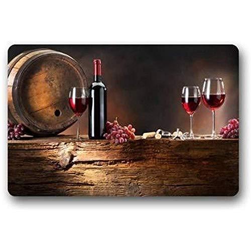 jonycm Entree tapijt Rode Wijn Vlek Resistant Kleur Binnen/buiten Vloer Mat Deurmat Decor Tapijt 40X60cm