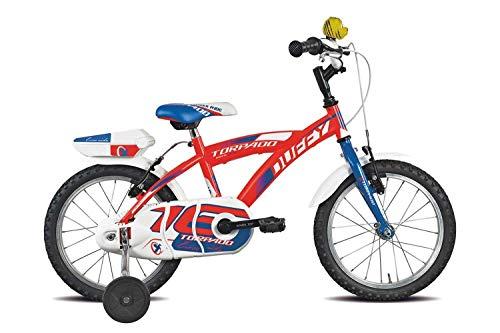 TORPADO Bici Bimbo T675 Duffy 16'' 1v Rosso (Bambino)
