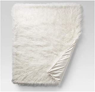 Project 62 Mongolian Faux Fur Throw Blanket 50in x 60in Cream