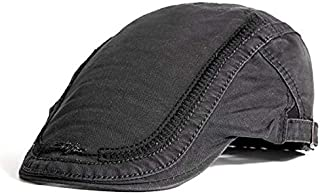 Men's Cotton Embroidery Painter Beret Custom Casual Outdoor Visor Fashion Trend Travel Shopping Hats & Caps (Color : Bronze)