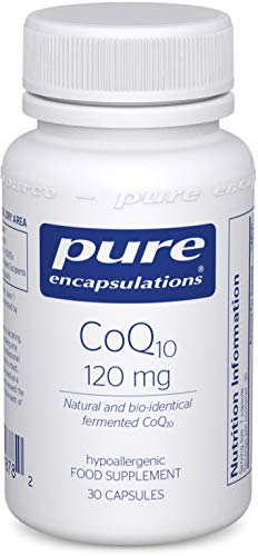 Pure Encapsulations - CoQ10 120mg - Natural and Bio-Identical Fermented Coenzyme Q10-30 Vegetarian Capsules