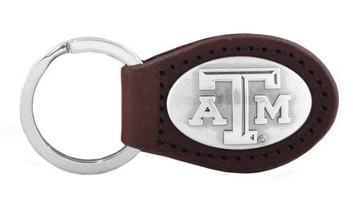 Chaveiro Concho NCAA Texas A&M Aggies Zep-Pro de couro, marrom