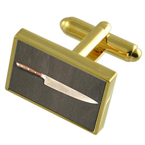 Preisvergleich Produktbild Select Gifts Kochmesser Gold-Manschettenknöpfe schwarze Tasche