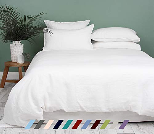 Kotton Culture Premium Duvet Cover 100% Egyptian Cotton 600 Thread Count with Zipper & Corner Ties Luxurious Hotel Collection (California King/King, White)