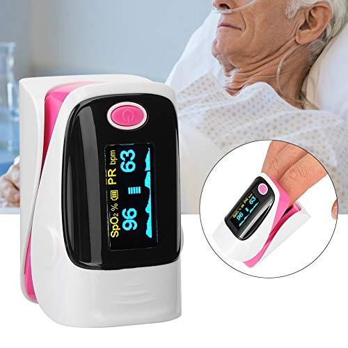 Naroote Fingerspitzen-Pulsoximeter, tragbares Fingerspitzen-Pulsoximeter Blutsauerstoffsättigungsmonitor SPO2-Messung Haushaltsqualität ist unsere Kultur(Rosa)