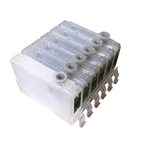 WSCHENG T0821N-T0826N Cartuchos de Tinta compatibles Recargables vacíos para la Impresora EPSON T50 R270 R290 con Chips de Arco