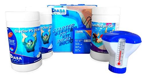 well2wellness® Pool Starterset Wasserpfege - Schwimmbad Starter Kit 5in1