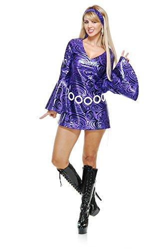 Charades Women's Purple Swirl Disco Diva, X-Large