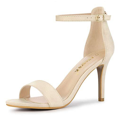 allegra k stilettos Allegra K Women's Suede Ankle Strap High Stiletto Heels Sandals