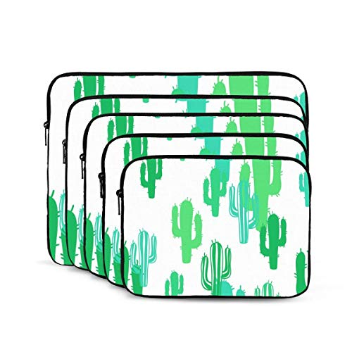 Green Cacti Laptop Sleeve, Shock Resistant Notebook Briefcase, Tablet Carrying Case for MacBook Pro/MacBook Air/Asus/Dell/Lenovo/Hp/Samsung 15 inch