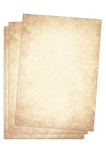 Edition Seidel Premium Briefpapier Vintage Altes Papier 50 Blatt DIN A4 120g/qm Motivbriefpapier Mittelalterliches Bastelpapier Urkunde Urkundenpapier Optik ähnlich Pergamentpapier