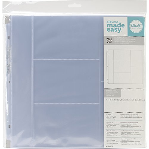 We R Memory Keepers 12 Inch x12 Inch 3-Ring Photo Sleeves (Single Pack)
