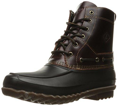 Sperry Decoy Boot Leather, Botines para Hombre, Negro (Amaretto/Black), 45 UE