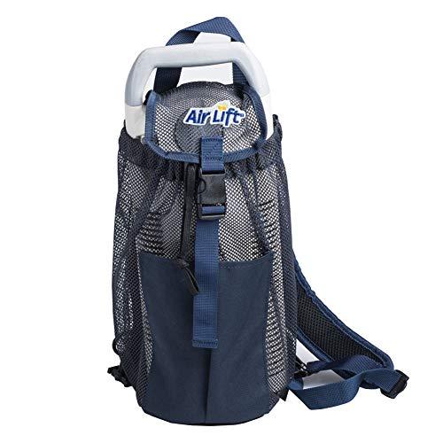 Roscoe Medical Liquid Oxygen Backpack - Portable Oxygen Tank Holder Bag for Small Liquid Portables, 12' x 6' X 2', Navy Blue