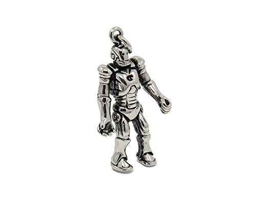 Miniblings Exoskeleton Robot Charm Android Robo Human Machine Silver