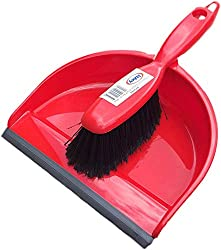 Cleenol dustpan and brush Combined dust pan and soft brush set For exterior use Colour: Red