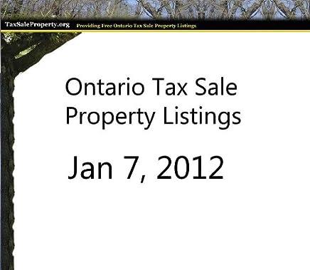 Amazon com: Tax Sale Property Listings Jan 2012 (Tax Sale