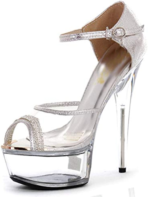 Women's Glitter PVC(Polyvinyl Chloride) Spring Summer Club shoes Heels Stiletto Heel Translucent Heel Crystal Heel Sparkling Glitter Silver golden Wedding Party & Evening,B,US9.510 EU41 UK7.58 CN42