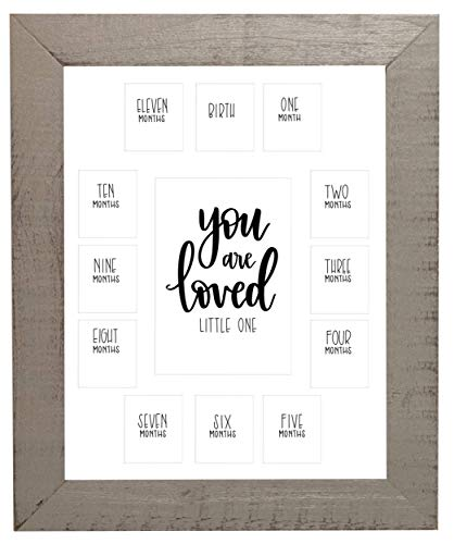 'You are Loved Little One', First Year Picture Frame with White Mat 11x14